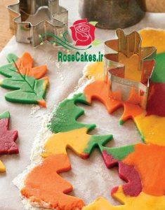 Autumn leaf biscuits